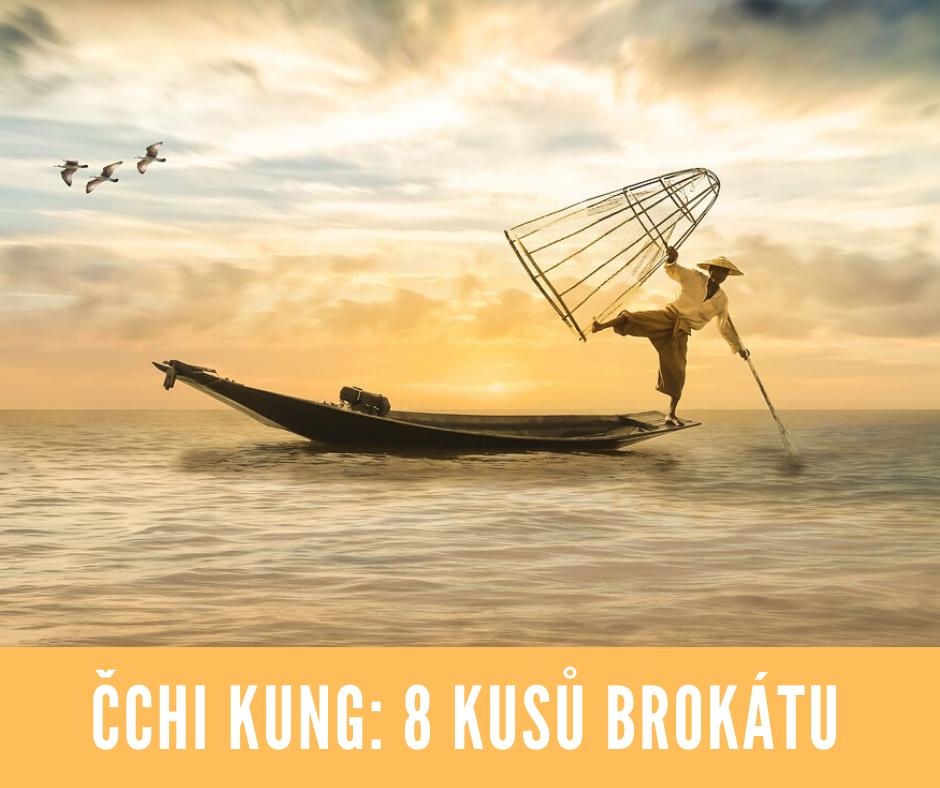Čchi Kung - 8 kusů brokátu